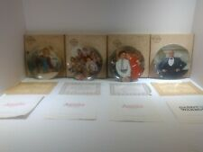 Edwin Knowles Four collector plates, Annie Vintage.