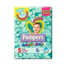 Pampers Baby Dry Pannolini Junior, Taglia 5 (11-25 kg), 17 Pannolini