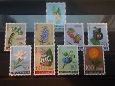 N762 STAMPS YUGOSLAVIA  1961  FLORA  MI 943-51  MNH