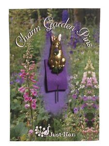 Just Nan Bright Bunny Charm Garden Pin cross stitch rabbit