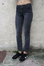 Jeans in denim grigio Siviglia pantaloni MADE IN ITALY Dritto Stretch Skinny Uk10