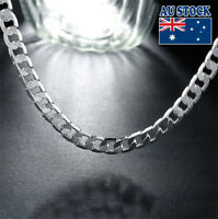 Elegant 20inch 925 Sterling Sliver Filled 8MM Chain Necklace Men's Women's Gift
