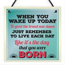 Inspirational Motivational Live Each Day Quote Hanging Friendship Gift Sign