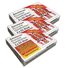 3er Set Romme Spielkarten 2x55 Kartendeck große Schrift | Canasta Bridge Karten
