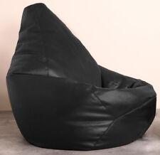 Hi-bagz Gaming Beanbag Faux Leather Black Bean Bag Chair