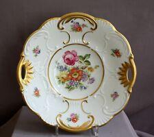 Große Porzellan-Schale Kahla Prunkschale Gold Rocaillen Blumen alt/antik 1930
