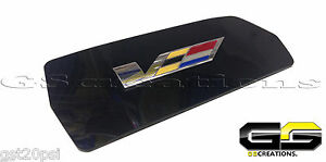 Cadillac CTS & CTS-V Coupe Rear Cup Holder Cover WITH Embedded V Emblem