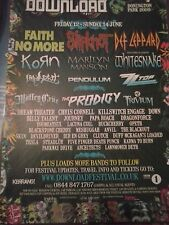 Download 2009 Faith No More Slipknot Def Leppard Korn Kerrang 1 Page Poster