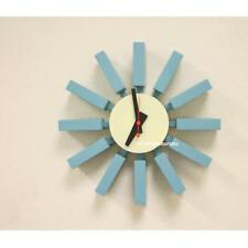 mid century danish modern nelson style sunburst block wall clock