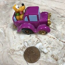Vintage Walt Disney PLUTO Pull Back Wind Up Car Vehicle Toy