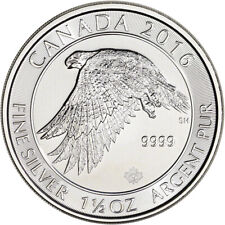 2016 Canada Silver White Snow Falcon - 1.5 oz - $8 - Bu