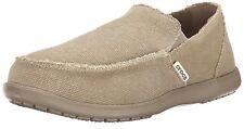 Crocs Mens Santa Cruz Slip-On Loafer,Khaki/Khaki,13 DM US