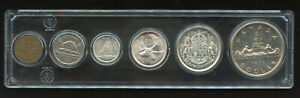 1955 Canada Complete Silver Coin Set in Acrylic Holder