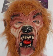 New Adult Deluxe Werewolf Mask Scary Wolf Man Halloween Fancy Dress