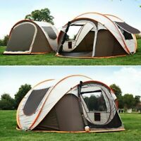 4-6 Person Waterproof Ultralight Automatic Camping Tent Double Layer Shelter DHL