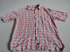 Vintage Retro, Firetrap Men's Short Sleeve Shirt Red Cream Check, 1996, Cotton