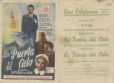 Programa PUBLICITARIO de CINE: LA PUERTA DEL CIELO.