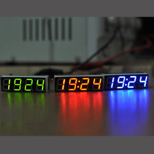 Digital LED Electronic Clock Time + Thermometer + Voltmeter for 12V car Hot US