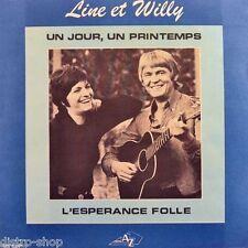 """7"""" LINE ET WILLY Un Jour, Un Printemps b/w L'espérance Folle DISC-AZ France 1972"""