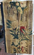 An 18th Century Tapestry Fragment w/ Sword and Arrows