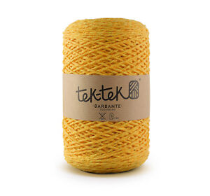 Crafting Cotton 6ply YELLOW New Cotton Knit Crochet Weave 220m washable