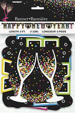 Feliz Año Nuevo Cartel con Letras Guirnalda Año Decoración Fiesta 1.5m