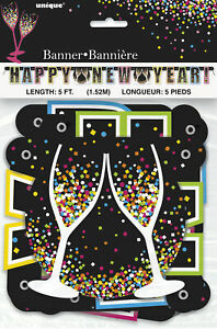 Happy New Year Letter Banner Garland  New Year Party Decoration Bunting 5 Feet