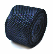 bleu marine uni Cravate en tricot fin par Frederick Thomas ft264