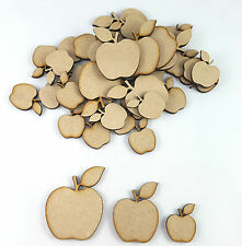 or 9 Wood Embellishment blank plaques 6 Wooden Shape  Apple Pack of 3