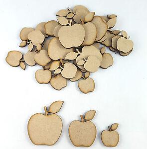 25x Wooden Apple Shapes,Apples with leaf MDF Apple Craft Shape, Embellishment