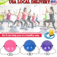 "24.4"" Balance Training Half Ball for Gym Exercise Yoga Fitness Workout with Pump"