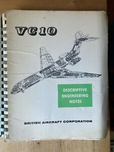 BAC Vickers VC-10 Descriptive Engineering Notes 1964  BOAC RAF Ghana MEA etc