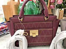 Michael Kors Tina Small Convertible Satchel / Crossbody Bag - Pearl Grey or Plum