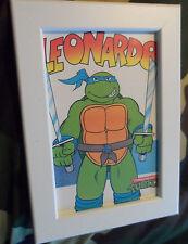 Vintage 1990 Teenage mutant hero turtles framed print postcard