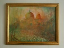 """AN IMPRESSIONIST OIL PAINTING OF  """"VENICE"""" - SIGNED"""