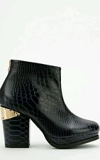 Sol Sana Storm Larry Scaled Ankle Boot/ Bootie Navy Blue Size 40 EUR Exquisite