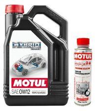 Aceite hibridos gasolina, Motul HYBRID 0W12 Toyota, 4L Limpia motor Engine Clean