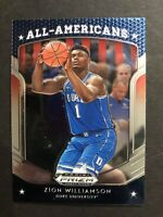 Zion Williamson Rookie Card Prizm Free Shipping