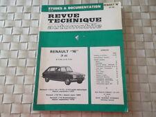 REVUE TECHNIQUE RENAULT 16 (9 ch) R1152 ET R1153