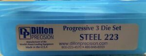 DILLON Precision .223 5.56 STEEL DIE SET 10839 Free Shipping New Sealed