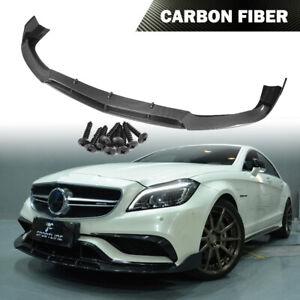 Front Bumper Lip Chin Fit for Mercedes Benz W218 CLS63 AMG 15-17 Carbon Fiber