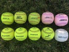 lot of 10 softballs 11 inch Soft Compression Training Softballs Free Shipping