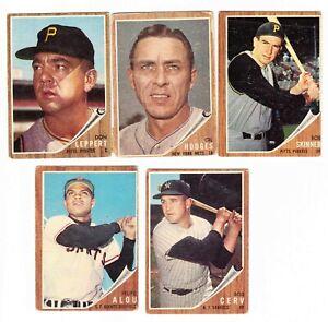 1962 Topps Baseball 10 Card Lot