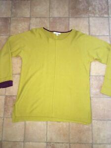 White Stuff Mustard Yellow Ladies Jumper, Size 12, Excellent Condition