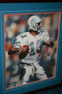 Dan Marino Autographed Limited and Numbered Giclee' by Longordo!