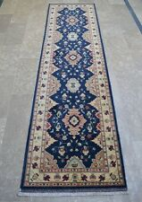 2 x 9 ft Hand Knotted Super Quality Pure Wool Afghan Oushak Medallion Runner Rug