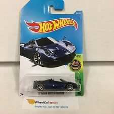 '17 Pagani Huayra Roadster #290 * Blue * 2017 Hot Wheels Case M * D31