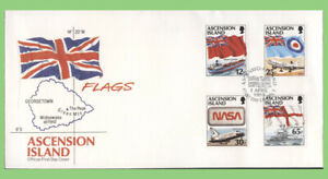 Ascension 1997 Flags set on First Day Cover