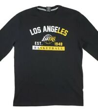 Mens Large NBA Los Angeles Lakers LA long sleeve thermal Shirt black