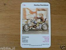 EASY RIDER 1B HARLEY-DAVIDSON 1200CC KWARTET KAART, QUARTETT CARD,SPIELKARTE